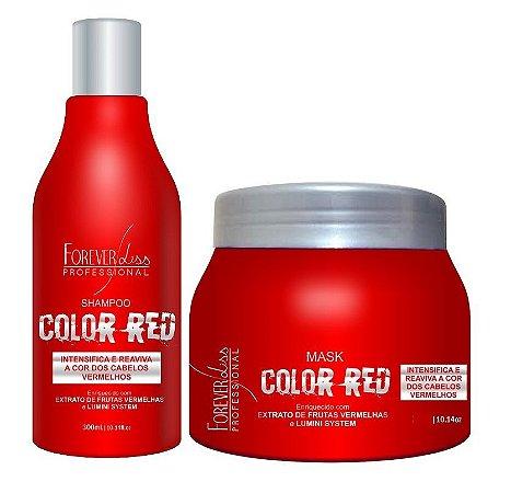 Forever Liss Color Red - Kit Tonalizante Cabelos Vermelhos