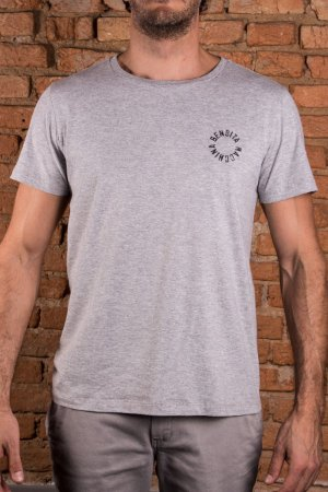 Camiseta Handcrafted Mescla Cinza