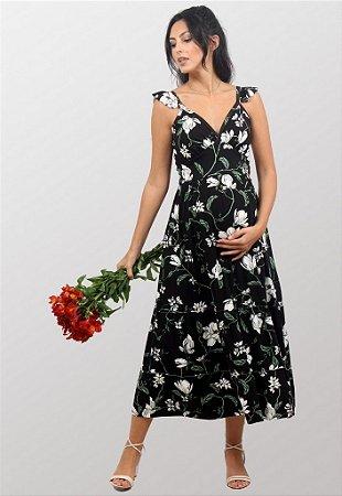 Vestido Gestante Estampado Vivian Lumiar