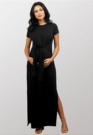 Vestido Gestante Amamentação Aurora Preto