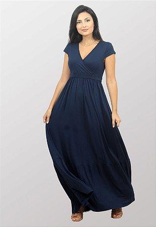 Vestido Longo Transpassado Patricia Marinho