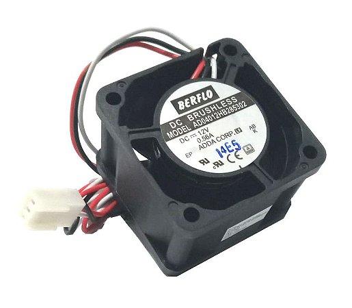COOLER : 40X40X28 - 12V - ROLAMENTO 0.56 AMP - 6.72 WATT - 17000 RPM - 19.000 CFM 51.0 DB(A) - BERFLO - AD04012HB285302