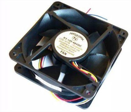 Cooler Nework 48V RT-120 16.118 120x120x38mm ROLAMENTO Amp.:0,12 RPM: 2600 4 FIOS S/ CONECTOR