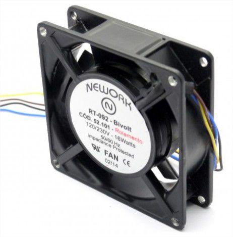 Cooler RT-092 Bivolt 120/230VDC 16 Watts (92x92x25mm) Rolamento - 52.101 - Nework - 9225BIR