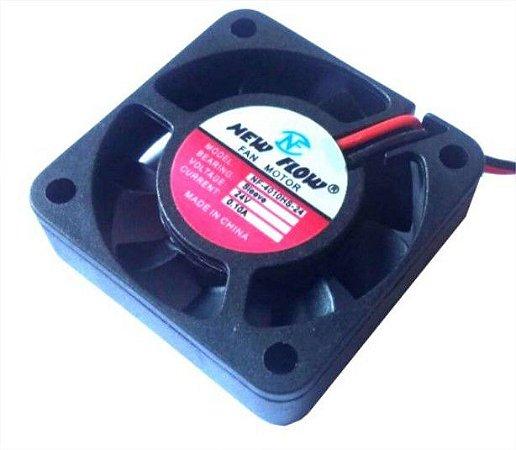 Cooler NEW FLOW24VNF4010HS-2440X40X10mmBUCHAAmp.:0,10RPM:2 FIOS S/ CONECTOR - 401024B