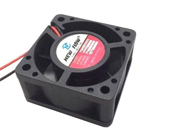 Cooler NEW FLOW24VNF4020HS-2440X40X20mmBUCHAAmp.:0,11RPM:2 FIOS S/ CONECTOR - 402024B