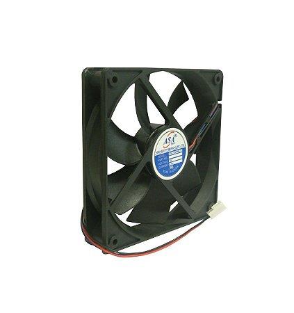 Cooler Adda12VASA12025MB-12D127 120X120X25mmROLAMENTOAmp.:0,26RPM: 20003 FIOS C/ CONECTOR - 1202512R