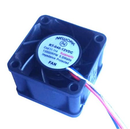 Cooler Nework 12V RT-040 11.114 40x40x28mm ROLAMENTO	Amp.: 0,38 RPM: 13000 - 402812R