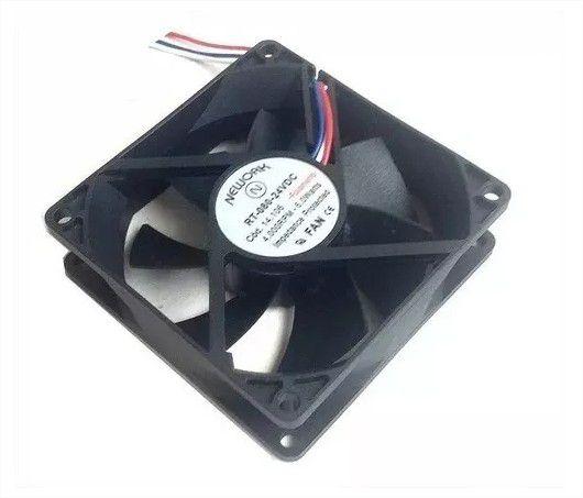 Cooler Nework 24V RT-080 14.106(R ) 80X80X25mm ROLAMENTO Amp.: 0,25 RPM: 4000 - 802524R