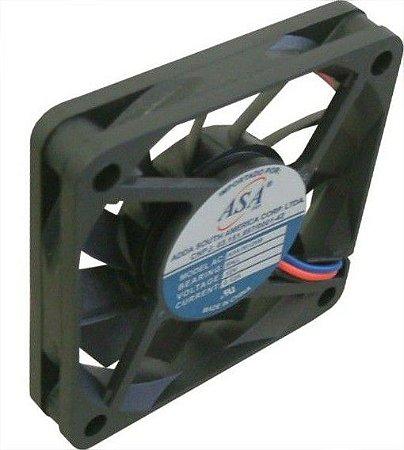 Cooler Adda12VASA-0612MB60X60X10mm ROLAMENTOAmp.:0,12RPM:42000606A 3 FIOS - 601012R