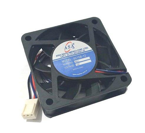 Cooler Adda12V6015B-12 60x60x15mm ROLAMENTO 0,16AMP 5.500RPM D66 3 FIOS - 601512R