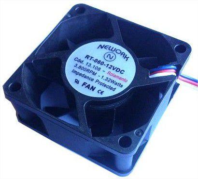 Cooler Nework12VRT-06013.10860x60x25mm ROLAMENTOAmp.:0,13RPM:3800 - 602512R