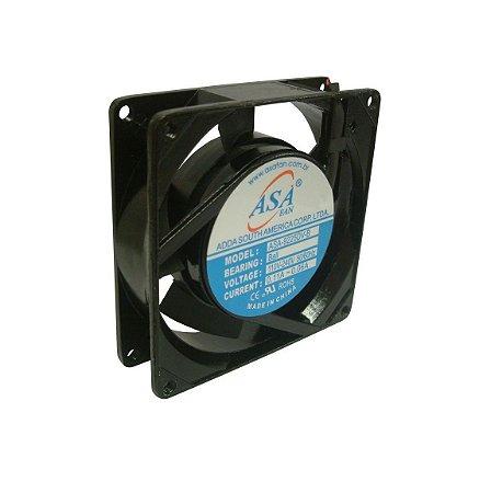 Cooler Adda BIVOLT 9225B A91 92X92X25mm ROLAMENTO RPM 3100 4 FIOS S/ CONECTOR - 9225BIR