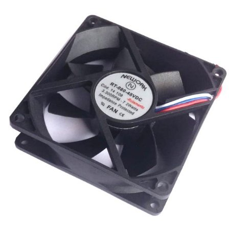 Cooler Nework 48V RT-080 14.108 80X80X25mm ROLAMENTO	Amp.: 0,04 RPM 3300 	3 FIOS S/ CONECTOR 1203848R