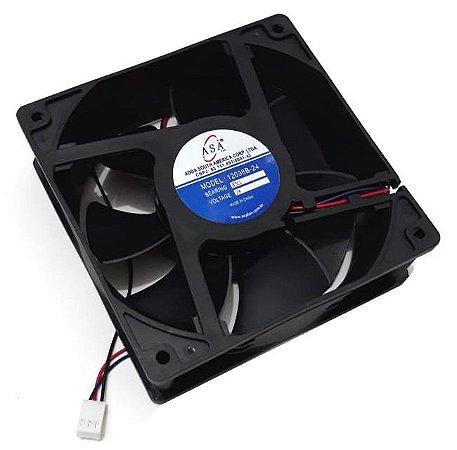 Cooler Adda 24v 12038B-24 D123 120x120x38mm ROLAMENTO Amp.: 0,35A RPM 3200 3 FIOS C/ CONECTOR - 1203824R