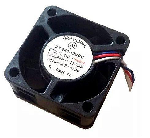 Cooler Nework 12V RT-040 11.210 40X40X20mmBUCHA Amp.: 0,16 RPM: 7000 3 FIOS S/ CONECTOR402012B