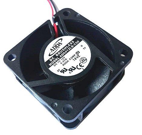 COOLER 40X40X20 - 12V - ROLAMENTO 0.07 AMP - 0.84 WATTS - 6200 RPM - 7.7 CFM 25,0 DB(A) - BERFLO - AD0412LBC50