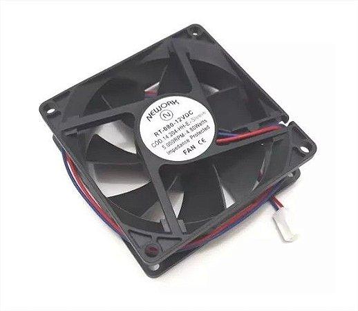 Cooler 12v Nework Rt-080 14.204-HH-E 80x80x25mm 5000 RPM - 802512B 2 FIOS C/ CONETOR