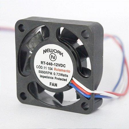 Cooler Nework 12V RT-040 11.104 40X40X10mm ROLAMENTOAmp.: 0,06 RPM: 5000