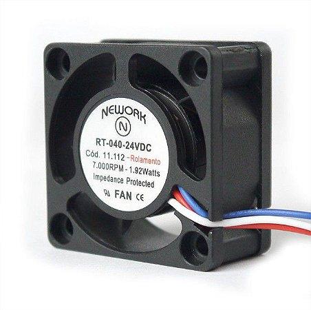 Cooler Nework 24V RT-040 11.112 40X40X20mm ROLAMENTO Amp.: 0,18 RPM: 7000