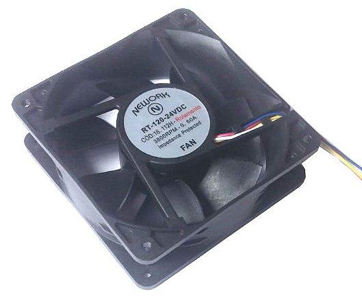 Cooler Nework 24V RT-120 16.112-H 120x120x38mm ROLAMENTOAmp.: 0,60 RPM: 3800