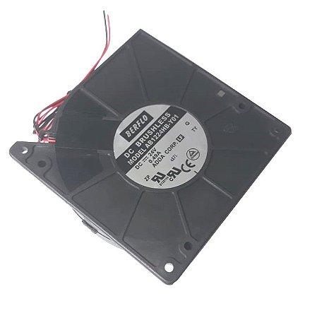 BLOWER 120X120X32 - 24V - ROLAMENTO 0.49 AMP - 11.76 WATTS - 2600 RPM - 31,20 CFM 55,0 DB(A) - BERFLO - AB1224HBY01
