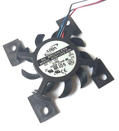 VENTILADOR 45X42X6 12V ROLAMENTO 0.08 AMP - 0.96 WATTS - 6600 RPM - 5.8 CFM 31.0 DB(A) - BERFLO AD0412HBK96
