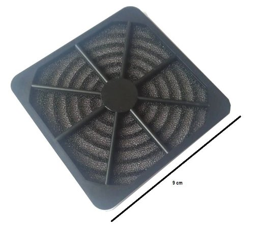 Fan Filter - Filtro para microventilador 90 mm - tela de nylon MOD GRM9030