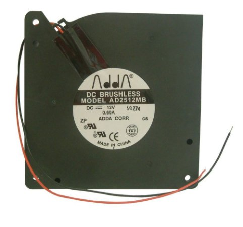 MINIVENTILADOR 12V AD2512MB BLOWER - 120x120x32mm ROLAMENTO - 2 FIOS - 0,60Amp - 1205P