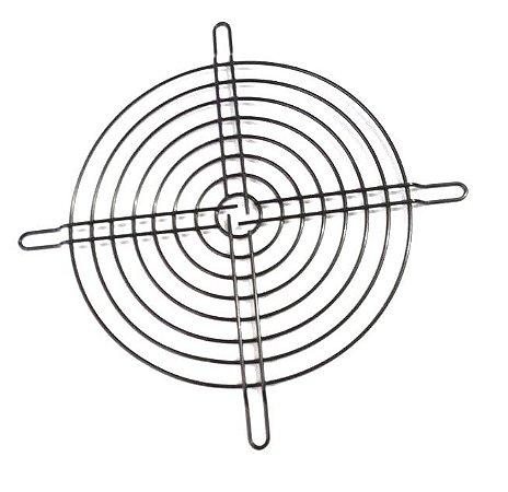 Metal preta com rebaixo para fixação (155mm) - para vent. de 170mm MG155