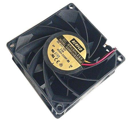 Cooler 12v 80X80X38mm Rolamento 3,00Amp 9000RPM - Adda AS08012HB389300