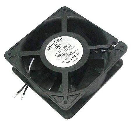 Cooler Nework Bivolt RT-120 53.202-EC 120x120x38mm BUCHA - NYLON - RPM 3000 2 FIOS 12038BIR