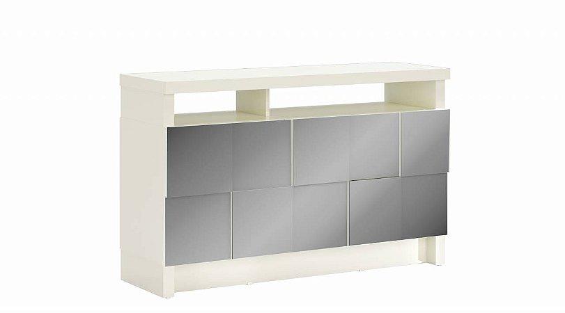 BALCAO 125,3CM QUADRICULADO 3D - OFF WHITE/ESPELHO TB288E WW