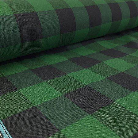 Flanela Xadrez Verde e Preto