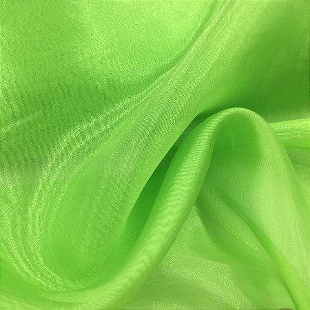 Organza Cristal Verde Limão