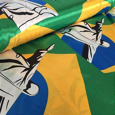 Cetim Estampado Brasil