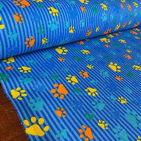 Gorgurinho Estampado Patinhas Azul
