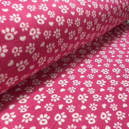 Soft Estampado Patinhas Rosa