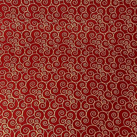 Tricoline Estampada Padrões Vermelho