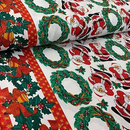 Oxford Estampado Festa de Natal