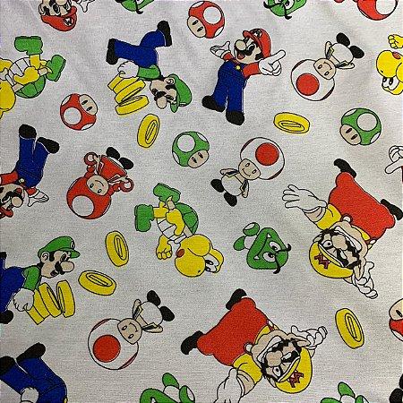 Tricoline Estampada Super Mario