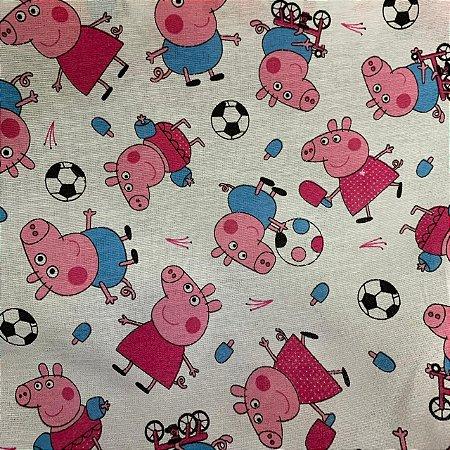 Tricoline Estampada Peppa Pig