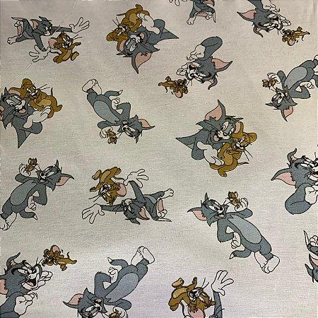 Tricoline Estampada Tom e Jerry