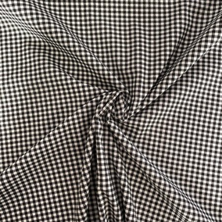 Tricoline Estampado Xadrez Preto e Branco