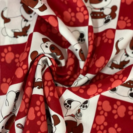 Oxford Pet Quadriculado Vermelho