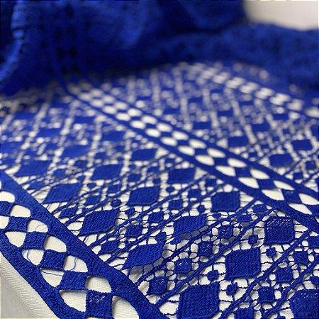 Renda Guipir Azul Royal