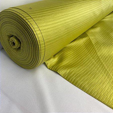 Tecido Rústico Listrado Verde Limão