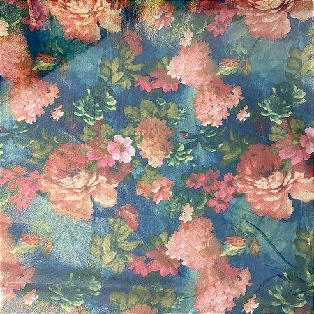 Crepe Chiffon Estampado Floral