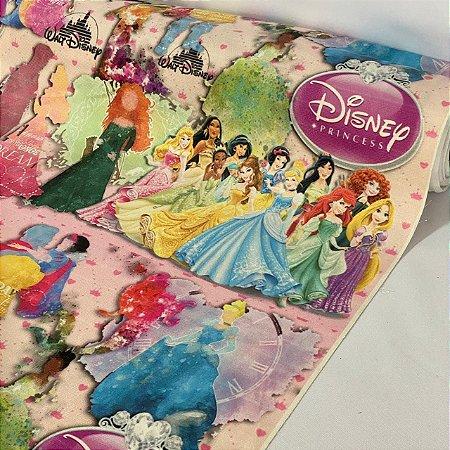 Suede Estampado Princesas Disney
