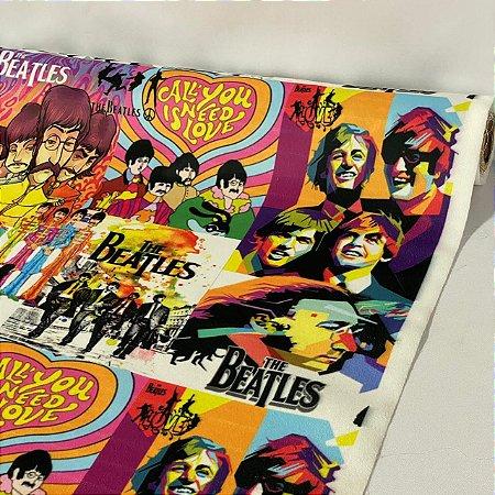 Suede Estampado The Beatles